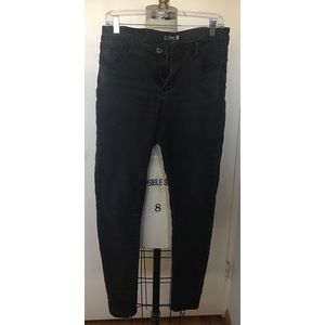 Fashion Nova Blackish Grey Denim Pants